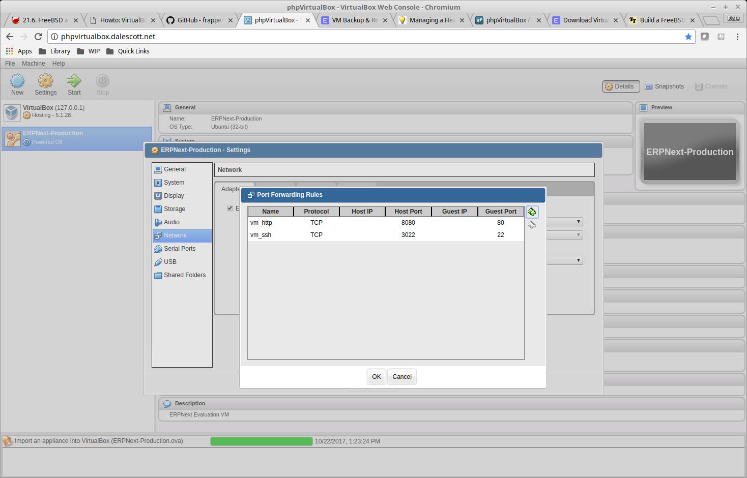 Install ERPNext on FreeBSD 11 2 using VirtualBox – Dale